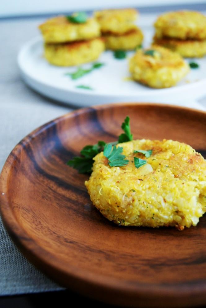 Croquetas de quinoa con coliflor y pap
