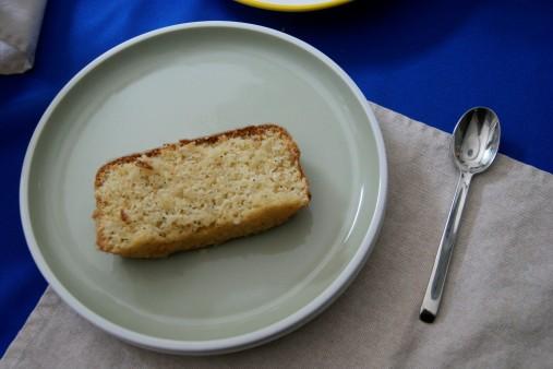 Lemon pound cake with poppy seed