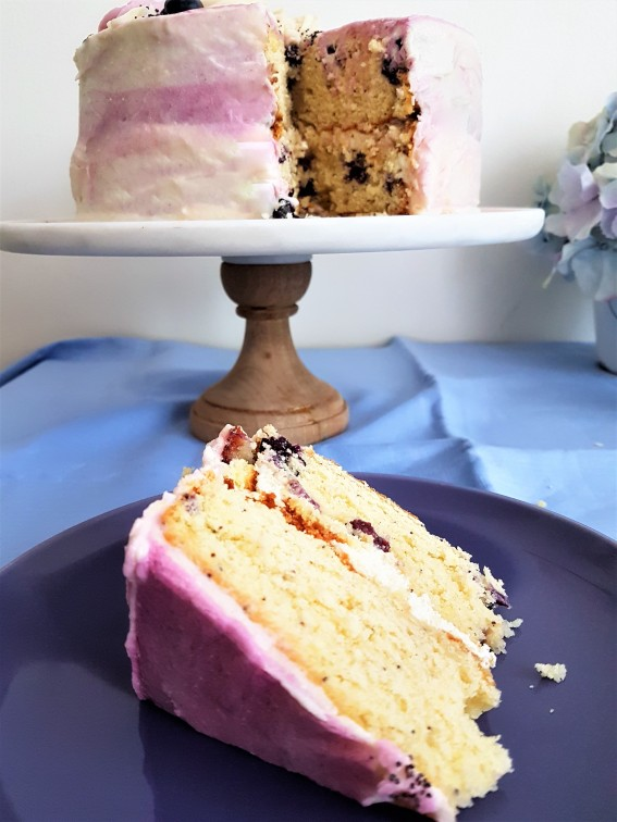 Pastel de limón y blueberry/ Lemon and blueberry cake