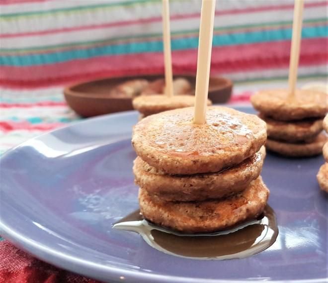 Hotcakes de pay de manzana