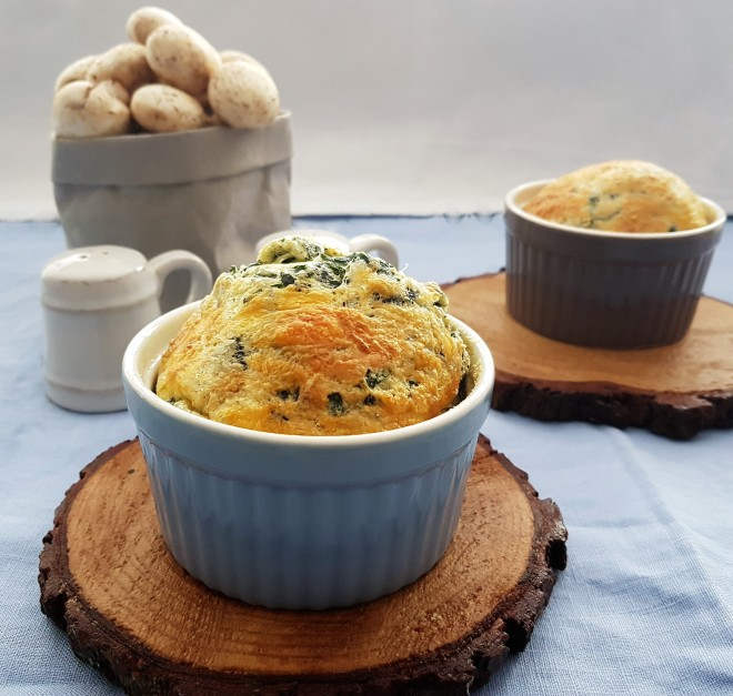 Soufflé de espinaca y queso